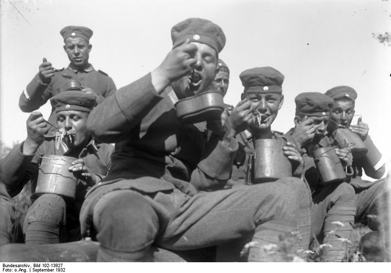 Image result for ww1 German soldier with mess tin