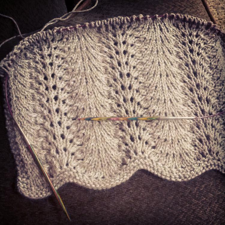Mes favoris tricot crochet tuto tricot le point ventail feather and fan - Modele de point au tricot ...
