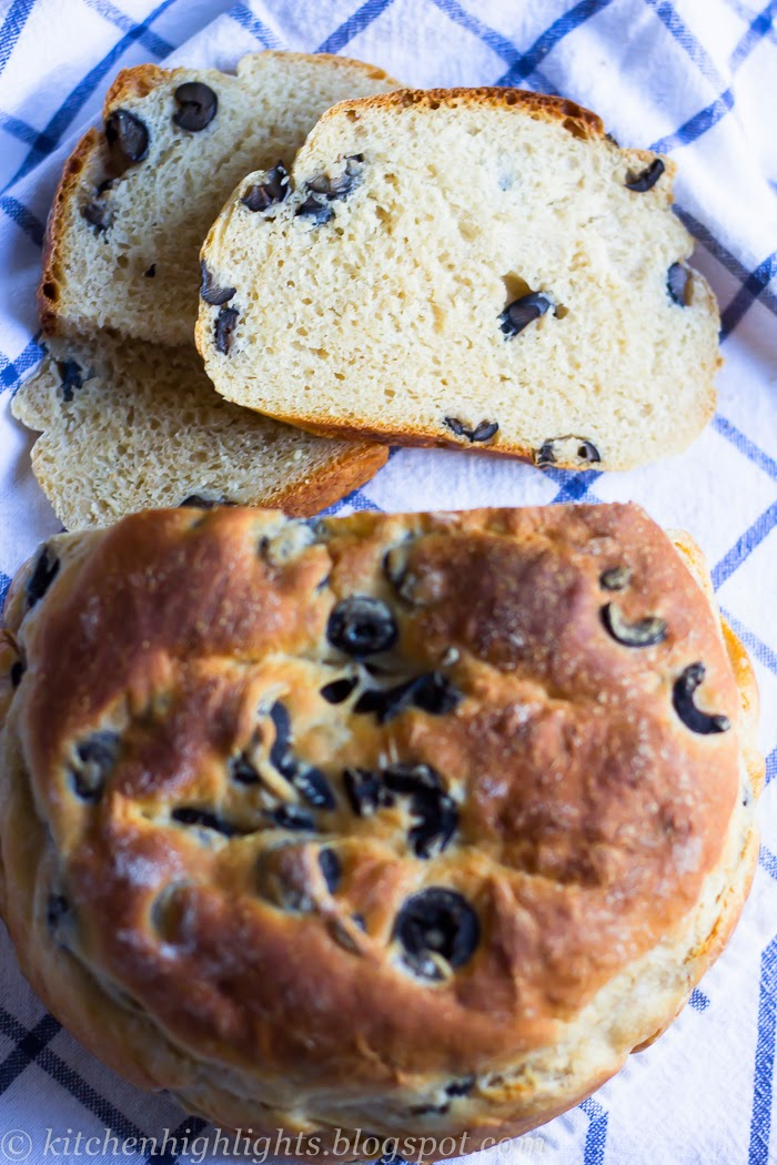 he today's rustic Greek olive bread is made using a simple dough and black olives
