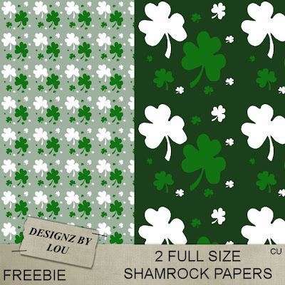 CU St Patricks papers and PS brush set Dbl_shamrock_papers_preview