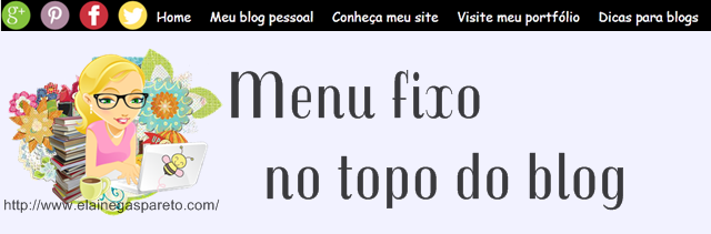 menu fixo no topo do blog