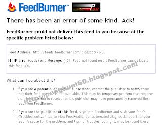 Cara Mengatasi Feed Blogger Error 404