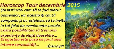 Horoscop Taur decembrie 2015
