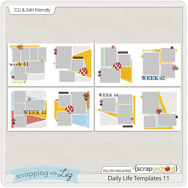 http://scraporchard.com/market/Daily-Life-11-Digital-Scrapbook-Templates.html