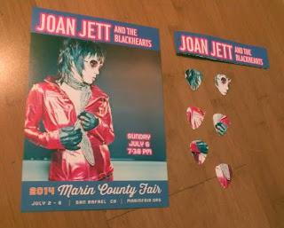Joan Jett Flier cut into picks