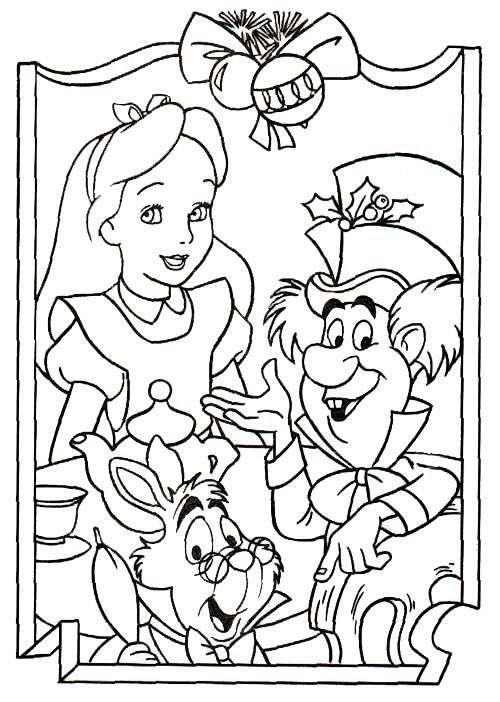 Dibujos animados para colorear: Alicia en el pais de las maravillas ...