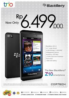 BlackBerry Z10 harga baru Rp 6.499.000 di OkeShop