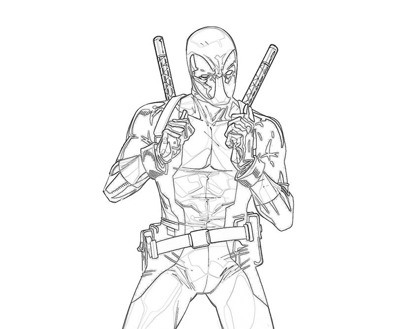 coloring pages of deadpool - deadpool sniper mario