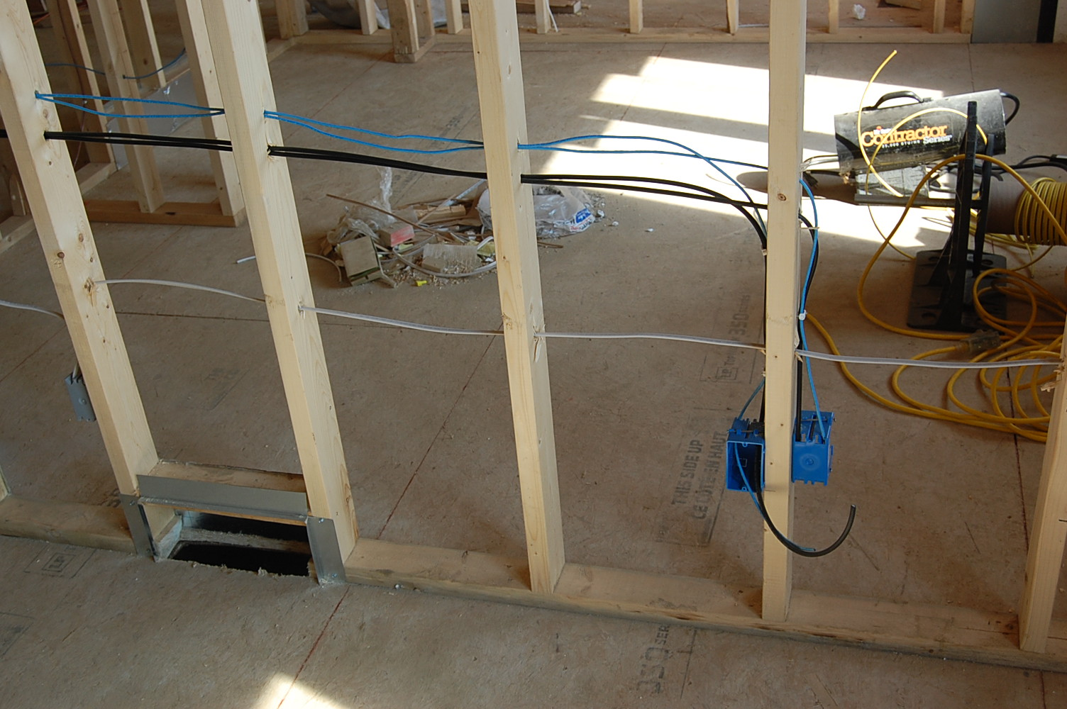 New Lizer Homestead: Electrical Rough ins
