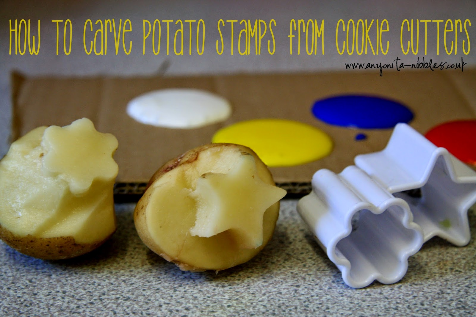 How to Carve Potato Stamps from Cookie Cutters from www.anyonita-nibbles.co.uk