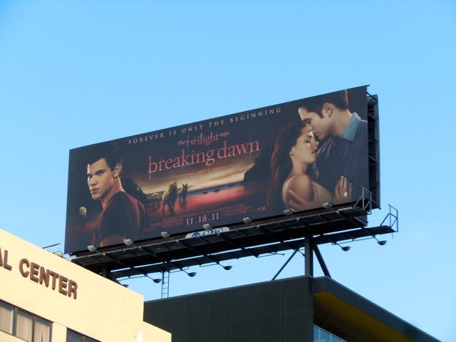 Twilight Breaking Dawn billboard