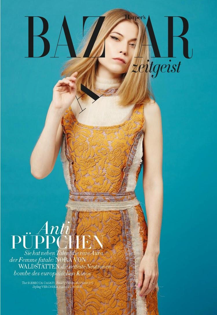 Actress: Nora von Waldstätten - Harper's Bazaar Germany