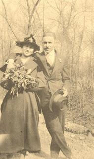 Grandma and Grandpa wedding day