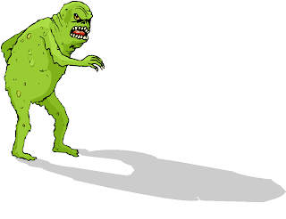 Scary Green Monster Free Clipart
