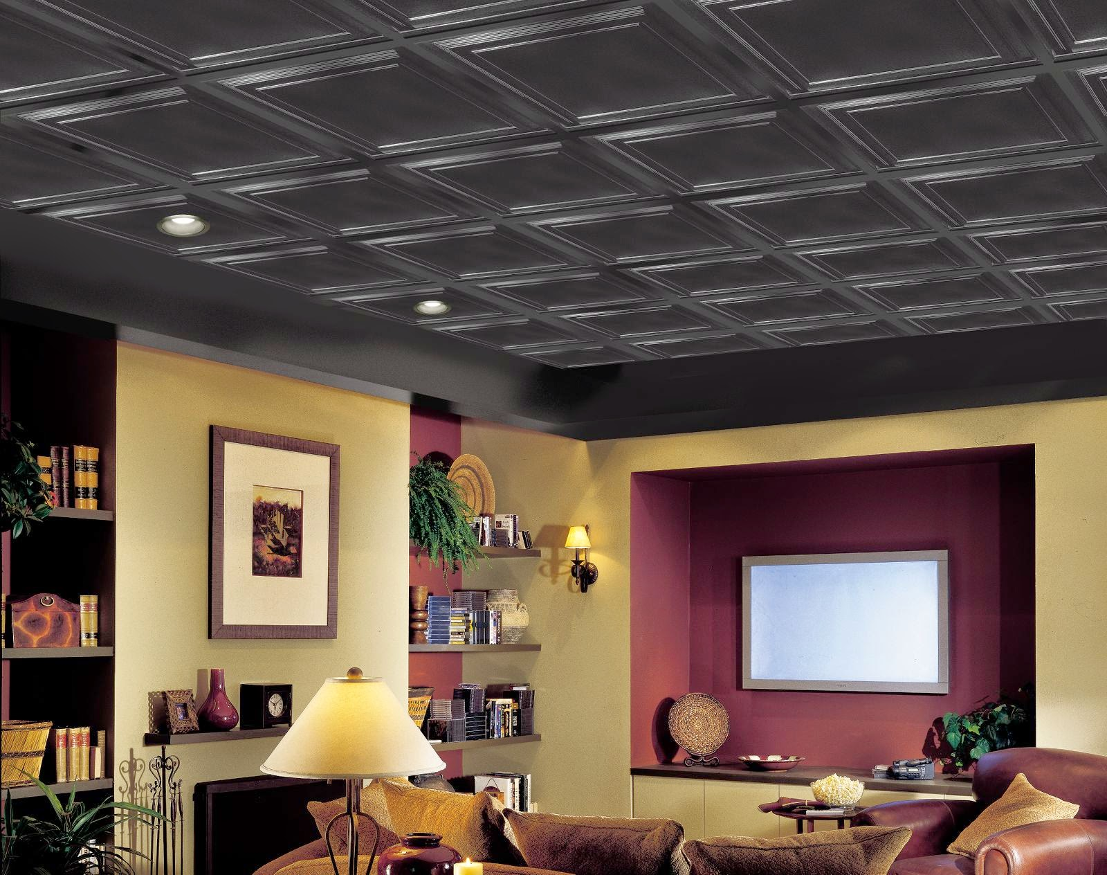 Basement Ceilings Then And Now The Interior Frugalista - Black ceiling basement