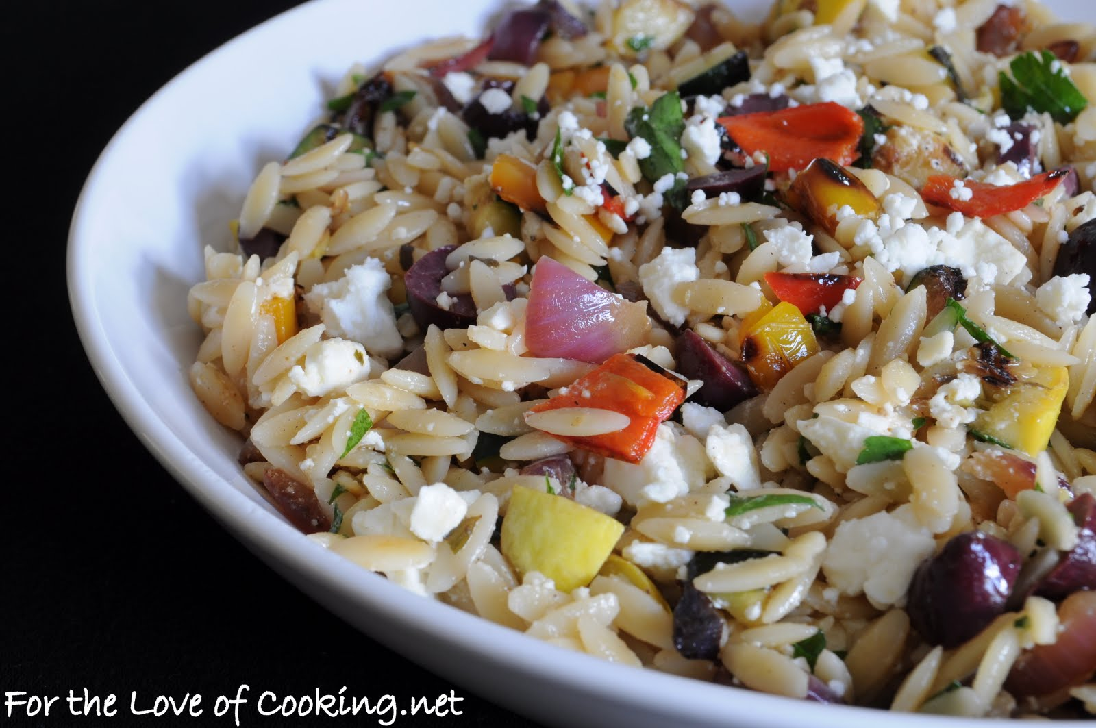 Mediterranean Orzo Salad with Grilled Vegetables | For the Love of ...
