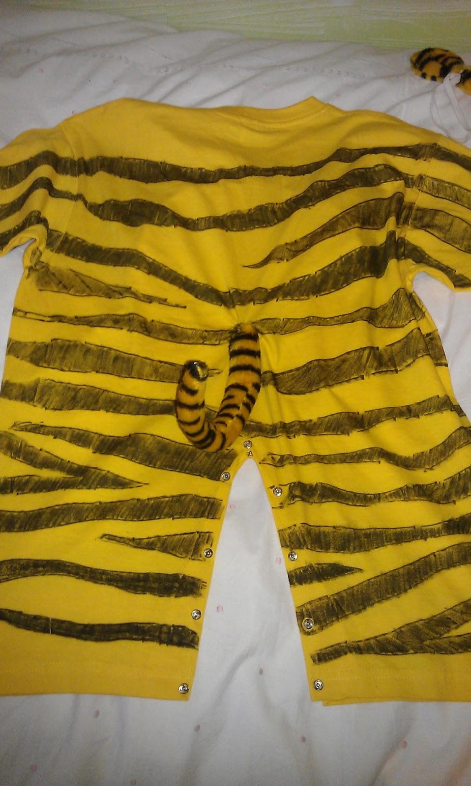 Operaci n aprender disfraz casero de tigre - Como hacer un disfraz de bebe ...