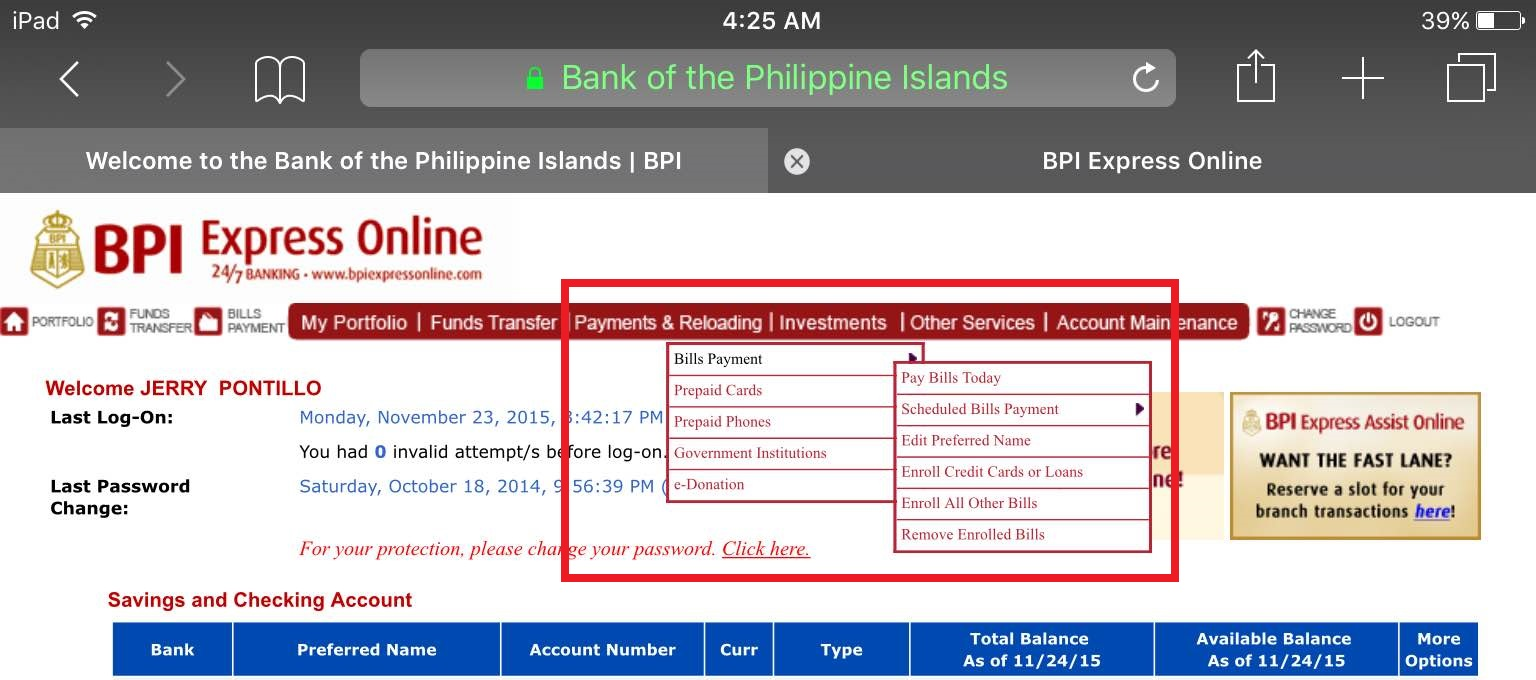 bpi how to open an account