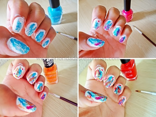 passo a passo esmalte, nail art