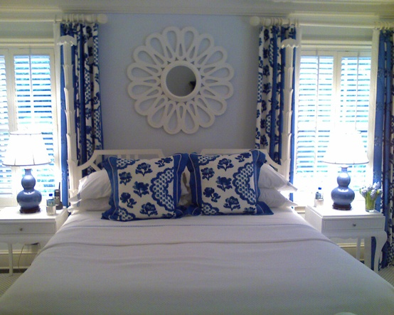 beautiful blue and white bedrooms the glam pad