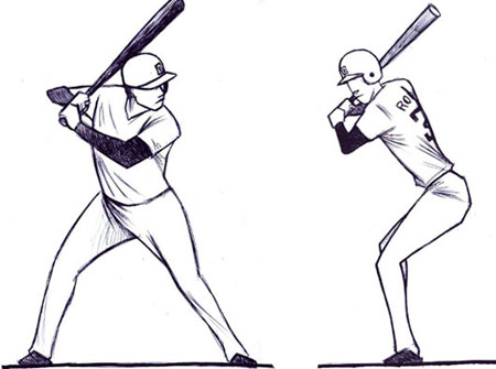 Softball batting stance clip art