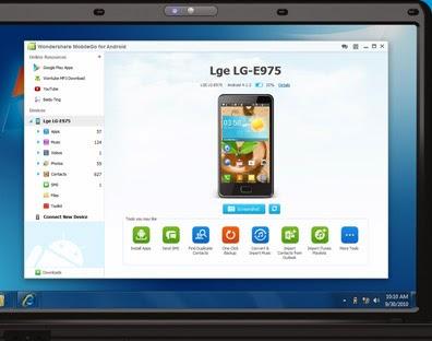 تحميل برنامج ادارة هواتف الاندرويد من الكمبيوتر Wondershare mobileGo