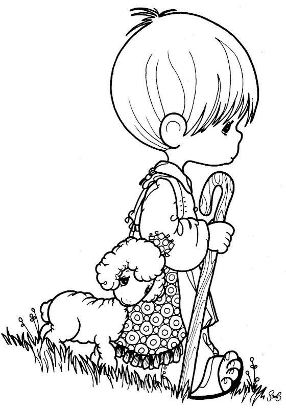 Un pastor de ovejas para colorear - Imagui