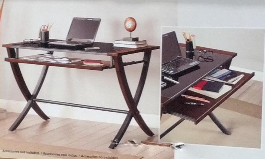 Bayside Furnishings Nalu Office Computer Desk with Slide ...