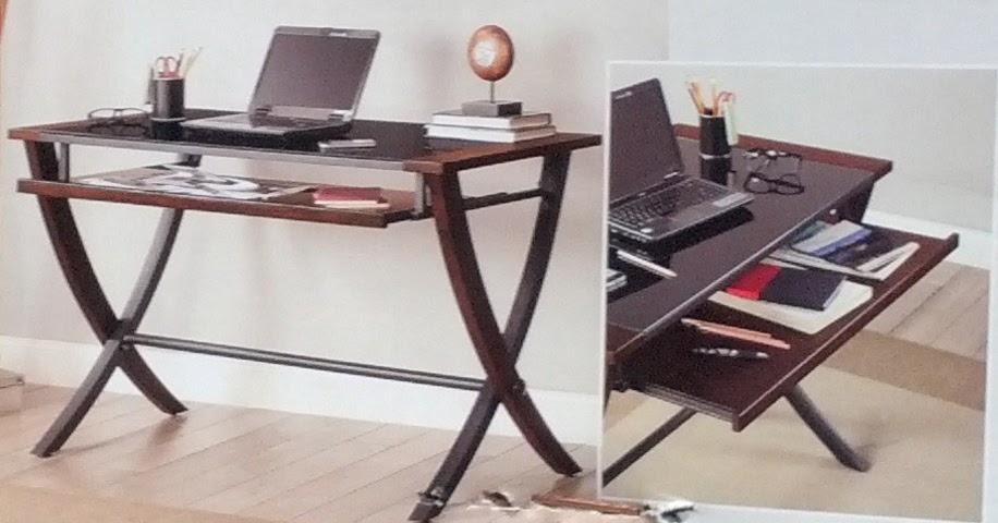 Bayside Furnishings Nalu fice puter Desk with Slide