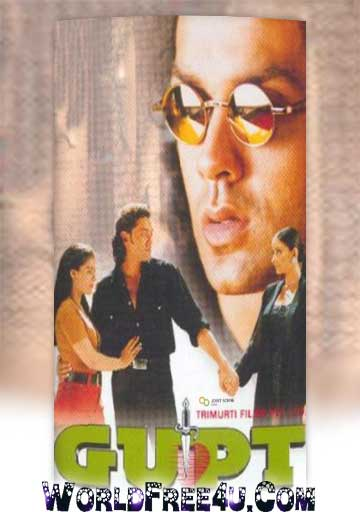 Poster Of Bollywood Movie Gupt (1997) 300MB Compressed Small Size Pc Movie Free Download worldfree4u.com