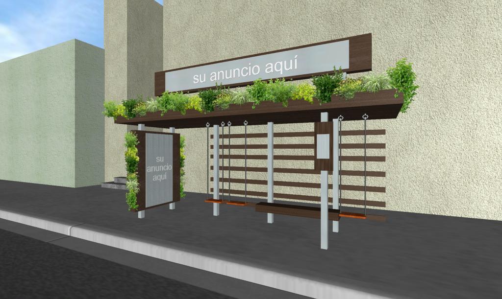 Parabus Ecologico - Columpios 2 - Con Jardin Vertical y Colgante - Zen Ambient - Mexico