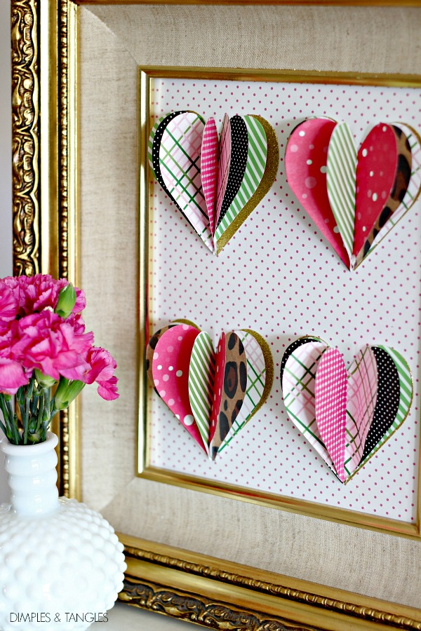 Diy 3d Heart Art Dimples And Tangles
