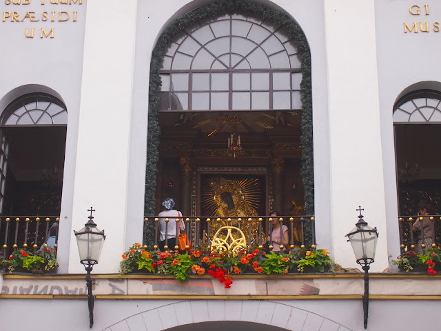 The Virgin Mary without Jesus - a famous icon in Vilnius, Lithuania