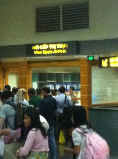 Visa in -arrivo ad Hanoi, Vietnam