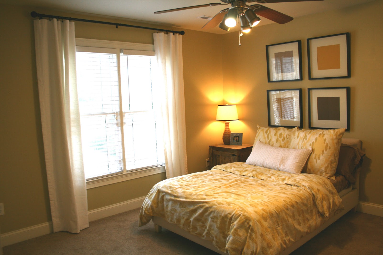 the bozeman bungalow guest bedroom curtains