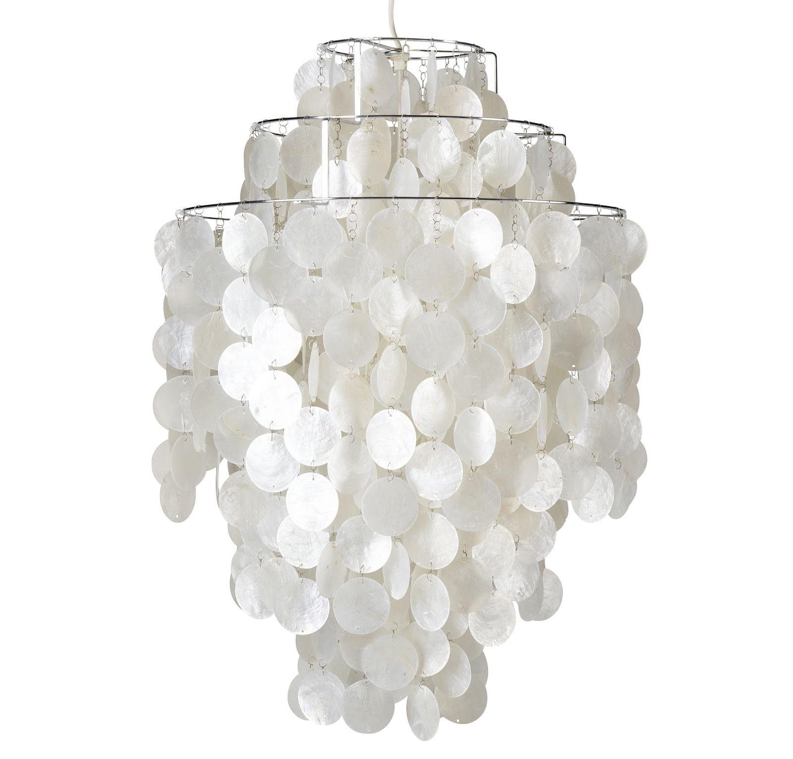 modern interior design: Fun-1DM™ - Capiz Shell Lamp : Verner Panton