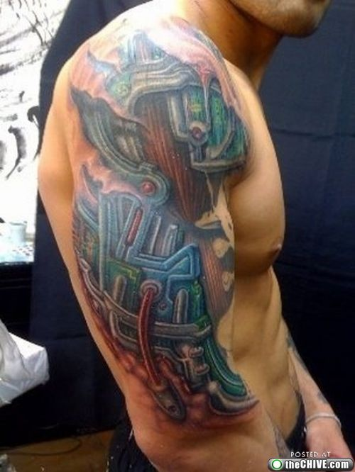 Cool Cyborg Tattoos