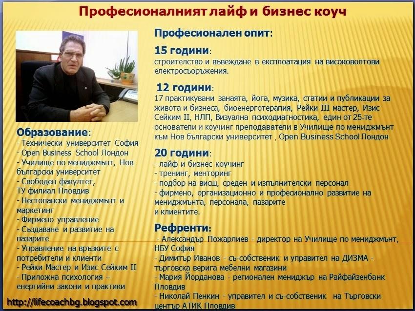 1967-2014: Моята професионална история.