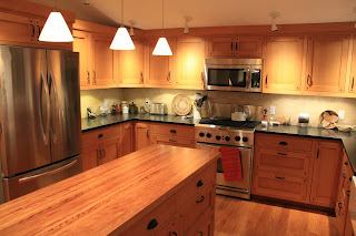 custom woodworking furniture and cabinetry by blue spruce joinery craftsman style fir kitchen. Black Bedroom Furniture Sets. Home Design Ideas