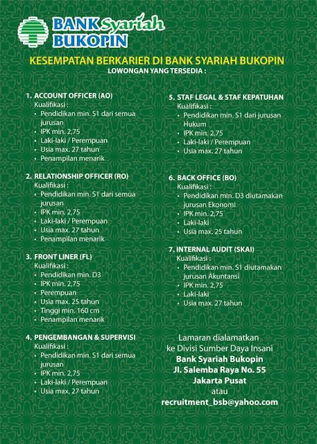 Lowongan Kerja 2013 Bank Syariah Bukopin Desember 2012 untuk Berbagai Bidang Kerja