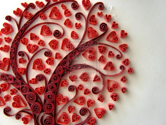 Simple crafts making quilled crafts for valentine day for Quilling craft ideas