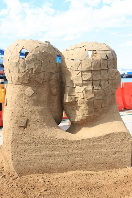 Joris Kivits's unique sculpture at U.S Sand Sculpting Challenge 2012 in San Diego, California, USA