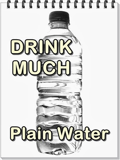 Get rid from uti with drink a lot of water