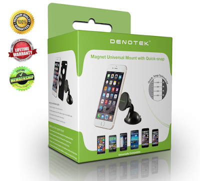 DENOTEK Windshield Car Phone Mount Holder