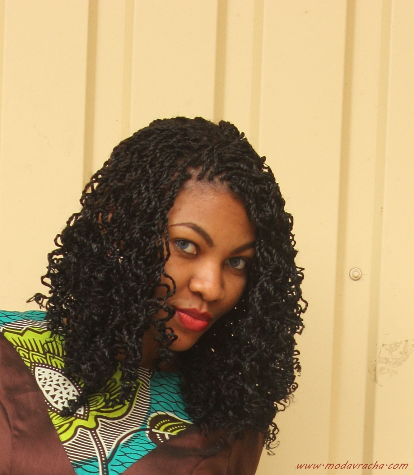 Nigerian fashion blogger modavracha rocking twisted braids