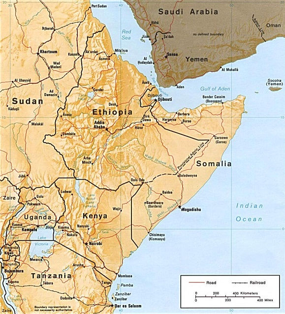Horn of Africa Map Horn of Africa Map Pictures