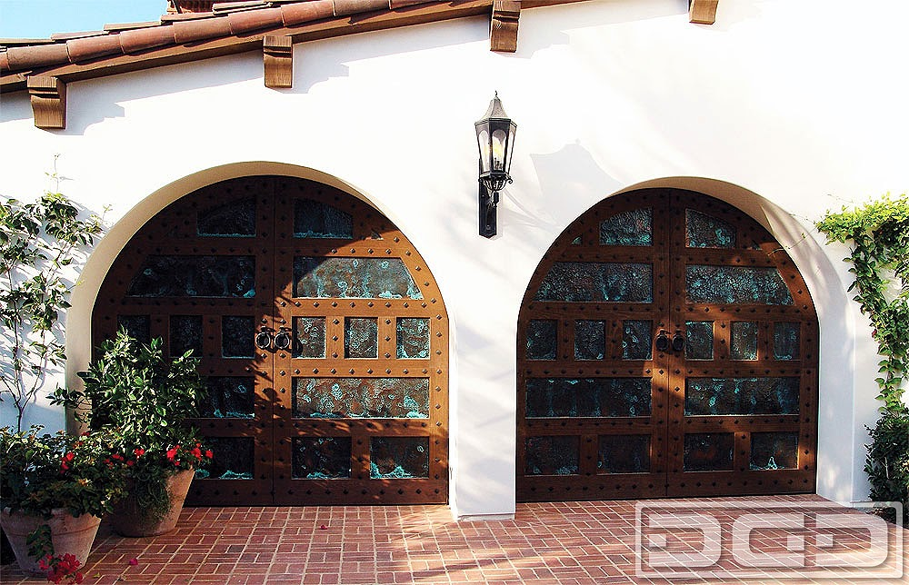 Spanish Garage Door Designs in Santa Barbara