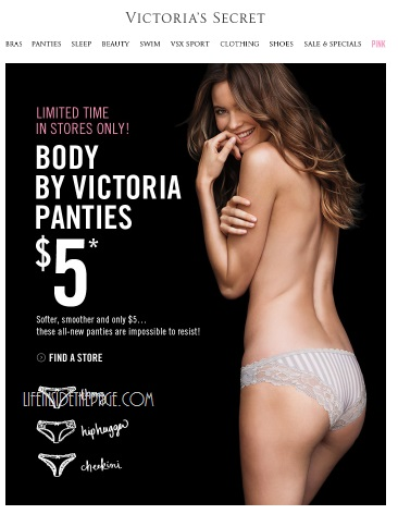 Victorias Secret~ Body by Victoria Panty sale $5.00