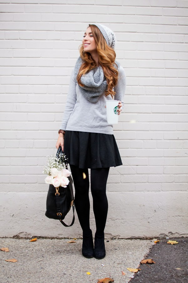 Ootd grey knits for fall marc by marc jacobs fran bag Fashion and style by vanja m facebook