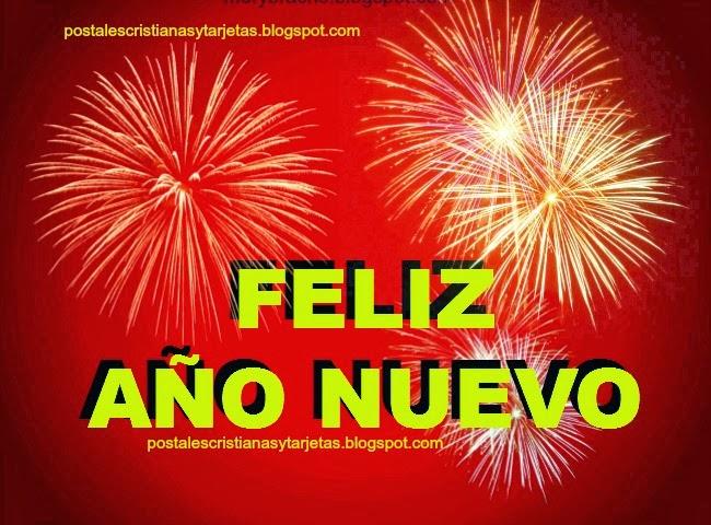 Tarjeta Feliz Año Nuevo. Imágenes de feliz año 2016, Que se te abran puertas en el nuevo año, feliz 2014, alcanzar metas, imágenes con mensaje cristiano de fin de año, postales cristianas, tarjetas gratis facebook.